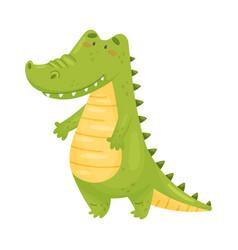 Humanized crocodile is standing vector