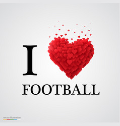 i love football heart sign vector image