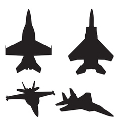 jet fighter silhouettes vector image