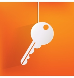 Key icon door lock symbol vector image