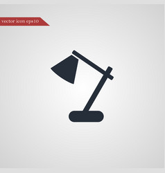 lamp icon simple vector image