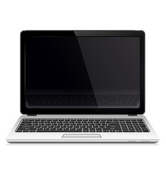 Laptop with blank screen isolated on white vector