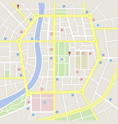 Light colors imaginary city map vector