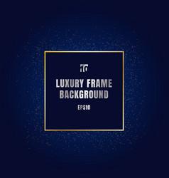 Luxury gold square frame with shiny golden vector