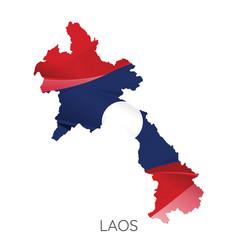 Map laos vector