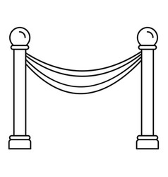 Museum barrier icon outline style vector