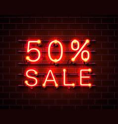 neon 50 sale vector image