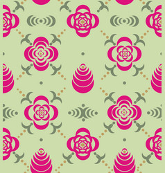 ornaments from stencil of flowers and leaves vector image