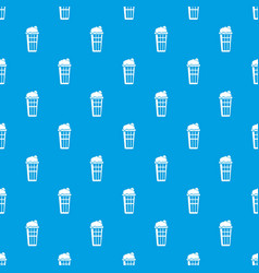 popcorn box pattern seamless blue vector image