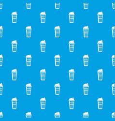 popcorn box pattern seamless blue vector image