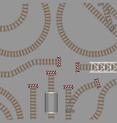 railway parts grey rails vector image