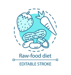raw food diet vegan lifestyle concept icon vector image