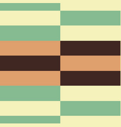 retro green and brown horizontal stripes vector image