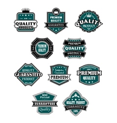 Retro labels set for retail industry vector image