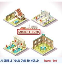 Roman 02 Tiles Isometric vector