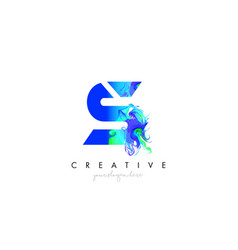 s letter icon design logo with creative artistic vector image
