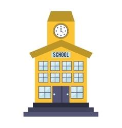School building isolated icon vector