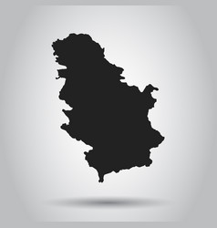 serbia map black icon on white background vector image