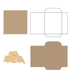 Sesame seeds packaging design kit Recycled paper vector