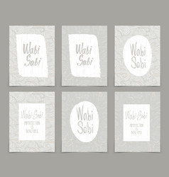 Set creative journaling cards template for vector