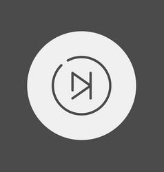 skip icon sign symbol vector image