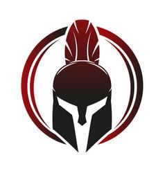 Spartan helmet icon vector