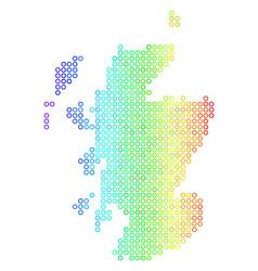Spectrum cirle dot scotland map vector