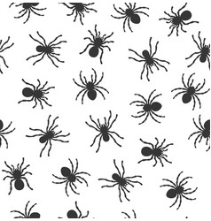 spiders seamless pattern on white background vector image