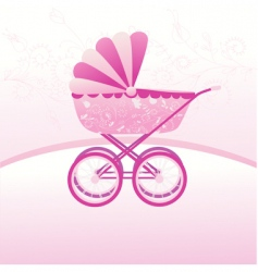 stroller vector image