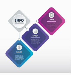 summary report business presentation concept with vector image
