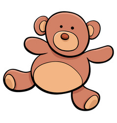 teddy bear cartoon toy clip art vector image