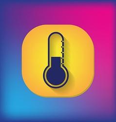 thermometer icon temperature symbol vector image