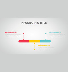 timeline infographic with 3 step for process vector image