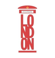United Kingdom Telephone Box London public call vector