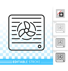Vent simple black line icon vector