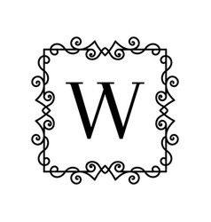vintage decor logo vector image