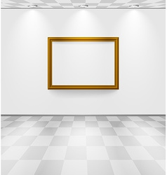 White room with frame vector image