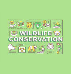 Wildlife conservation word concepts banner vector