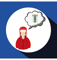 Winter design Season icon Colorfull vector image