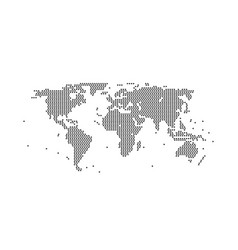 world map geometric black assembled from vector image