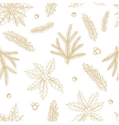 Xmas seamless pattern with christmas tree vector