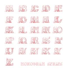 A monogram series vector image