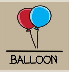 Balloon hand-drawn style vector