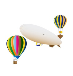 balloons and airship vector image
