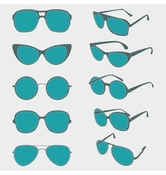 color of sunglasses frames vector image vector image