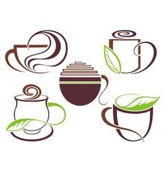 Cup of hot drink coffee tea vector image vector image