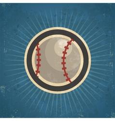 Retro Baseball vector image
