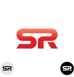 Two letters S and R ligature logo Dynamic sport vector image