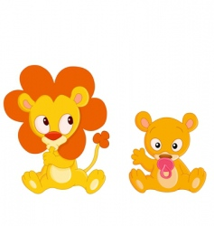 baby animals vector image