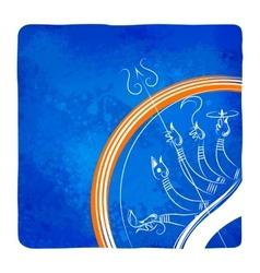Goddess Durga killing Mahishasura vector image vector image